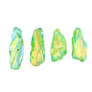 Mystic Green Colour Coated Quartz Gemstone