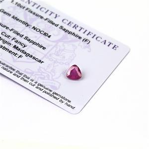 1.1cts Ilakaka Pink Sapphire 7x7mm Triangle  (F)
