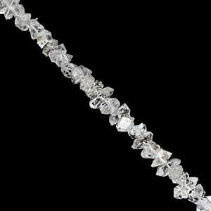 25cts Diamond Quartz Faceted Chips Nugget Approx 3.5x2 to 6.5x4mm, 19cm Strand