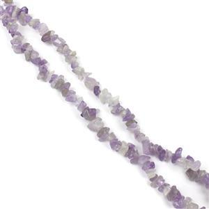 """940cts Lavendar Amethyst Chips Approx 4x7 to 5x8mm, 100"""" Endless Chips Strands"""
