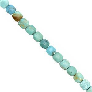 20cts Arizona Turquoise Smooth Pillow Approx 6mm, 12cm Strand