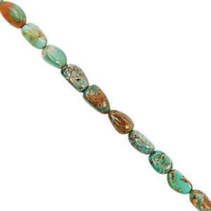 75cts Turquoise Smooth Tumbles Approx 9x6 to 15x12mm, 20cm Strand