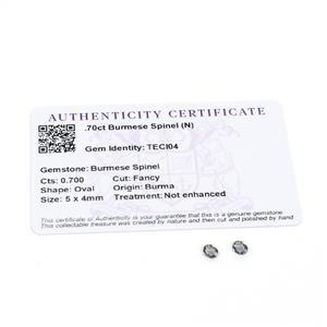 0.7cts Burmese Spinel 5x4mm Oval Pack of 2 (N)