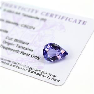 9.45cts  Tanzanite 14.75x11mm Pear  (H)