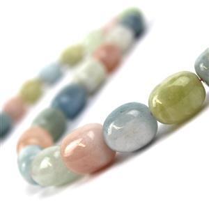 Multi-Colour Beryl Gemstone Strand 500cts