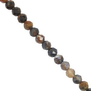 27cts Pietersite Faceted Round Approx Approx 3.9mm 30cm