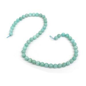 170cts Amazonite Plain Rounds Approx 8mm, 38cm Strand