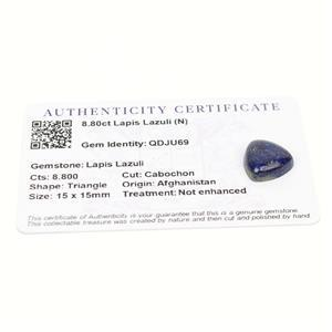 8.8cts Sar-i-Sang Lapis Lazuli 15x15mm Triangle  (N)