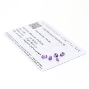 Moroccan Amethyst Gemstone Pieces  2.2cts