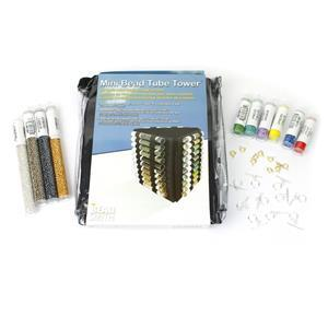 Seed Bead Mega Starter Kit with 10x Tubes of Seed Beads, Bead Tower, Clasps, Loom with Beads, Thread & Patterns