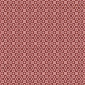 Hannah Basic Floral Spotted Red Fabric 0.5m