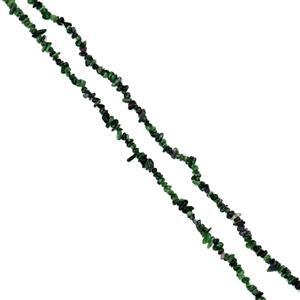 """260cts Ruby Zoisite Small Nuggets Approx 4x8mm, 32"""" Loose Strand"""