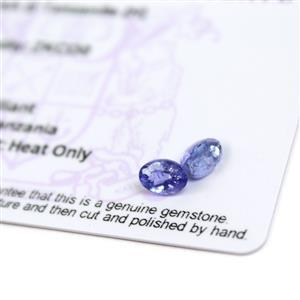 1.7cts  Tanzanite 7x5mm Oval Pack of 2 (H)