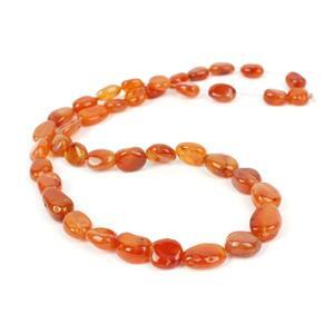 125cts Carnelian Graduated Tumble Nuggets Approx 8x7 to14x10mm, 38cm Strand