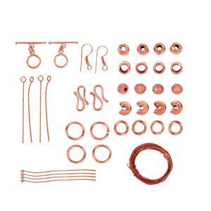 Bumper Findings Pack - Bare Copper (1,631pcs)