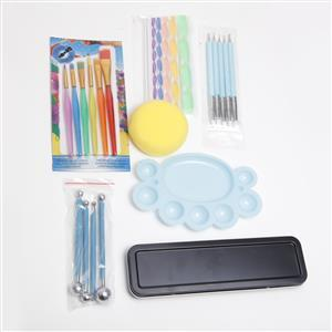 36 pc Mandala Dotting Tools Kit With Dry Paints