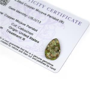 8cts Copper Mojave Peridot 20x12mm Pear  (R)