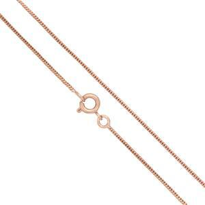 "Rose Gold Plated Base Metal Finished Snake Chain, 18"" (5pk)"