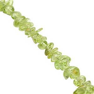 350cts Peridot Bead Nugget Approx 3x2 to 6x3mm, 250cm Strand