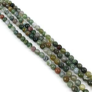 """410cts Fancy Jasper Faceted Rounds Approx 6mm, 60"""" Endless Strand"""