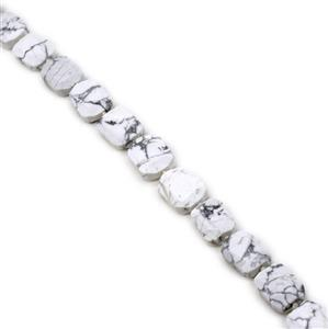 "435ct White Howlite Faceted Slab Loose Beads Strand 15"" 13x18-16x22mm"