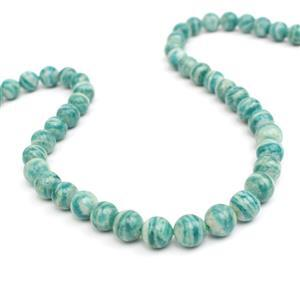 170cts Banded Russian Amazonite Plain Rounds Approx 8mm, 15-16""
