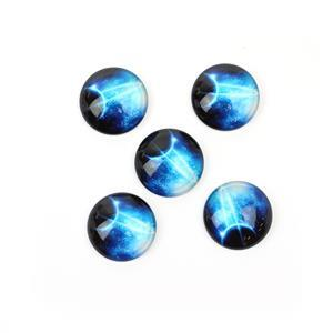 Planet Glass Cabochons, Approx 25mm (5pcs/pack)
