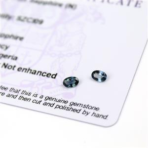 0.5cts Nigerian Sapphire 5x3mm Fancy Pack of 2 (N)
