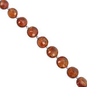 20cts Mandarin Citrine Faceted Coin Approx 6 to 7mm, 16cm Strand with Spacers