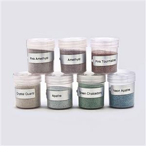 1400cts Multi Gemstones Dust Powder (Pack of 7)
