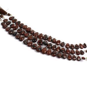 Triple Trouble 3x 98cts Mahogany Obsidian Graduated Plain Pears Approx 10x6 to 16x10mm,