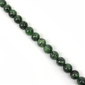 325cts Ruby Zoisite Plain Round Approx 14mm, 20cm Loose Strands