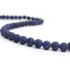 200cts Dyed Lapis Lazuli Plain Matt Rounds Approx 8mm, 38cm strand