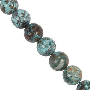 88cts Chrysocolla Smooth Round Approx 7.5mm 20cm Strand