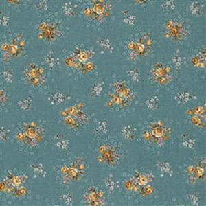 Trachten Rosen Sea Green Fabric 0.5m