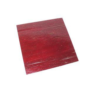 """Fuseworks 90 COE Transparent Red Sheet Glass, 6x6"""" Square (1pc)"""