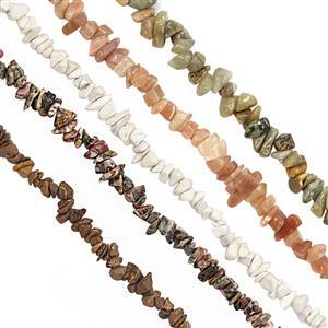 Multi Gemstones Bead Nugget Strand