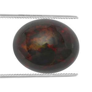 2cts Ethiopian Black Opal 11x9mm Oval  (S)