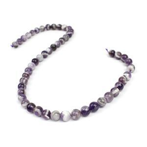 "175cts Dog Tooth Amethyst Plain Rounds Approx 8mm 15-16"" Strand"