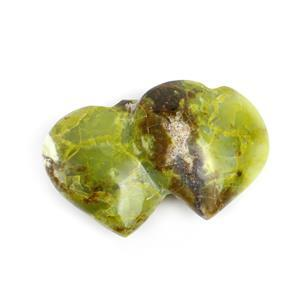 150g Green Opal Friendship Heart