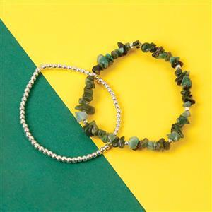 925 Sterling Silver Bead & Emerald Bracelets Kit