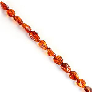 Baltic Cognac Amber Rough Beads Approx 13x16 - 21x13mm, 20cm Strands