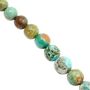 45cts Turquoise Graduated Smooth Round Approx 4 to 8mm, 20cm Strand