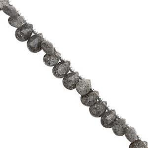 52cts Celestial Quartz Top Side Drill Faceted Pear Approx 6.5x4.5 to 9x7mm, 22cm Strand with Spacers