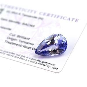 22.1cts  Tanzanite 23x14.25mm Pear  (H)