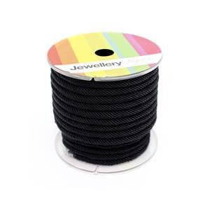 4m Black Milan Cord, Approx 4.7mm