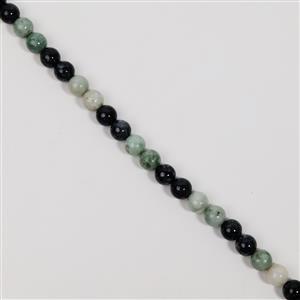 320cts Burmese Jadeite & Black Burmese Jadeite Plain Rounds Approx 10mm, 38cm