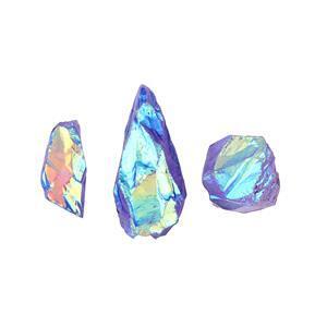 Mystic Purple Colour Coated Quartz Gemstone