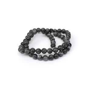 110cts Larvikite Plain Rounds Approx 6mm, 38cm Strand