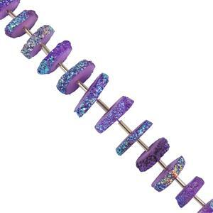 Mystic Coated Purple Solar Quartz Gemstone Strands